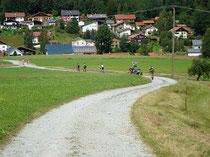 Mountainbiker, Achslach,  Bayerischer Wald