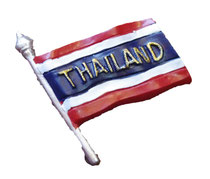 国旗・地図・伝統系 3D 立体 タイランド マグネット