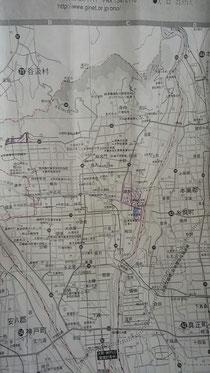 チラシまき岐阜大野町の地図