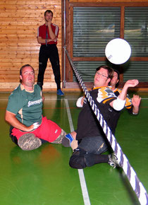Foto: Spielsituation beim Sitzball