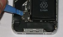 リチウム電池接続部に治具をあてる