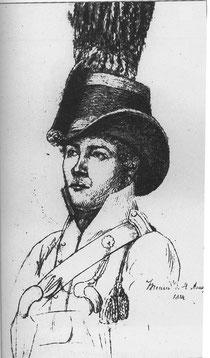 Joseph Ennemoser, gezeichnet vom Oberjäger und Battalions- Chirurgus August Albrecht Meckel v. Hemsbach