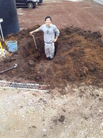 大きい穴を掘りました!