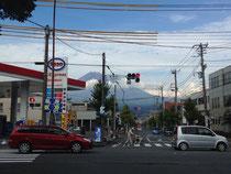 富士山が大きく見えました