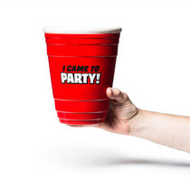 """I Came to Party"" Gigantic Red Party Cup ジャイギャンティックレッドパーティーカップ"
