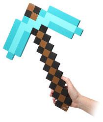 ThinkGeek Minecraft Foam Diamond Pickaxe シンクギークマインクラフトダイアモンドピックアックス