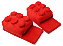 Building Block Slippers (Red) ブロックスリッパ(レッド)