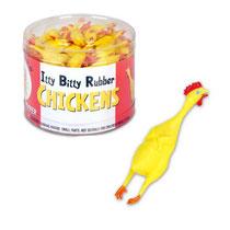 Itty Bitty Rubber Chicken ミニ ラバー チキン