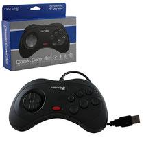 Saturn Style USB Controller (Black) サターンスタイル USBコントローラー(ブラック)