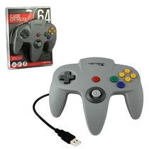 N64 Style USB Controller (Grey) N64スタイル USBコントローラー(グレー)