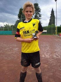 Zum besten Spieler des Turniers gewählt: Nils Kretschmann (Foto: mi.ga.).