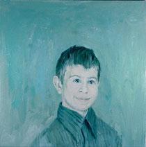 "Benjamin, 1995 Oil on canvas 26 x 26"""
