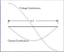 Fig.1 - Tensione dipolo e Distribuzione di corrente