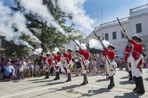 Celebración del 300 aniversario de la colonia inglesa.