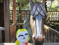 神馬と記念写真❤