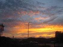 頓原道の駅付近からの夕焼け きれいでした❤