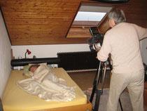 Werner Knauf bei den Dreharbeiten zum Film