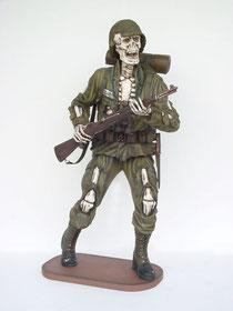 réplica esqueleto soldado