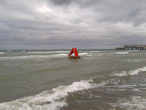 Red Slide in the Sea