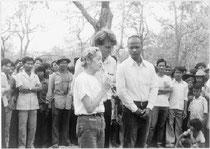 1981年、難民キャンプでの活動