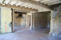 Création d'ouvertures en rénovation grâce à la pose de poutres porteuses et poteaux