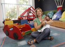 Conny Nowak ist eine der ständigen Betreuerinnen der Gruppe im Kastanienhof, die sich um die Kinder kümmern.