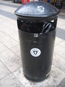 ストックホルムのゴミ箱。