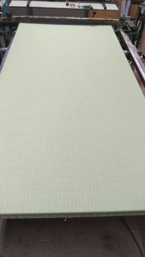 ダイケン清流(和紙表)を使用した、縁無し新畳です。