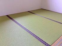 ダイケン銀白表(和紙表)、沖縄のカナサ柄畳縁です。