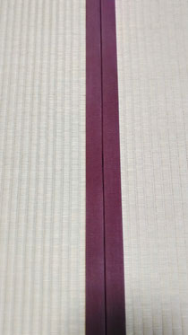 畳縁は、綿縁特上品栗茶色を使用しました。
