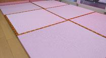 セキスイMIGUSAシュクレNo2 ピーチ色を使用して新畳置き畳を納品しました。