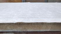 建材床の軽量ボード床(2㎜クッション入り)で新畳作業をしました。