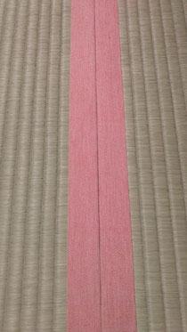 畳縁は、ラン N106 オレンジ(リネン素材)を使用しました。
