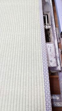 宮城産本床(藁床)、熊本産表、畳縁は九条No2を使用しました。