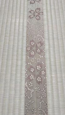 畳縁は、「HANA香織Ⅱ No20 桜柄 茶色」を使用しました。