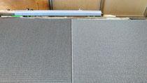 ダイケン清流 No9 墨染色の縁無し新畳作業をしました。