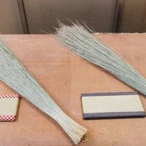 中学生が製作したミニ畳とい草です。