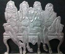 Vier Weisheiten 75mm Figur Zeichnung S. Lunyakov einseitige  Gravur: B. Süßmeier