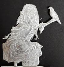 Der Wächter 50mm Figur einseitige Gravur: K.W. Rieger