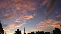 とある日の夕空(松屋跡地より)