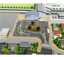 JR雀宮駅西口駅前広場(完成予想図)