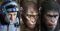 Andy Serkis, Andy Serkis, wenn er wütend ist, und Andy Serkis als Caesar