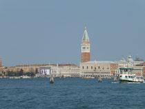 Venedig vom Meer aus gesehen