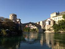 Mostar mit dem Fluß Neretva