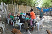 Rast in einem typischen jamaikanischen Foodshop