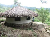 Die Rundhütten nach dem Vorbild der Unterkünfte der Kogi Indianer im Reserva Natural Caoba