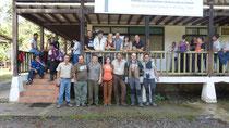 Comitiva de inauguración Expedición Científica Yasuní