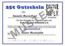 Kultur im Dorf Alveslohe e.V. Gutschein