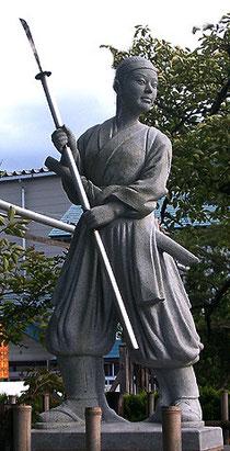 竹子の像(会津若松)