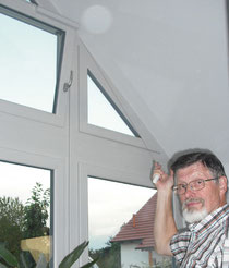 Auch Oberlichtfenster und schlecht erreichbare Fenster ganz einfach und sicher öffnen bzw. kippen.